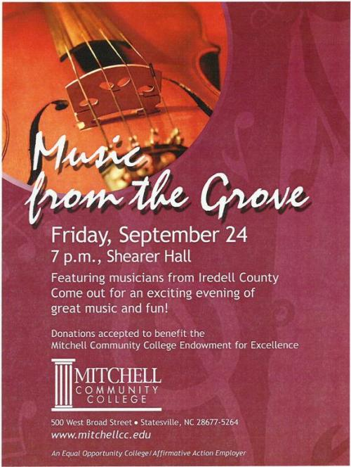 Music from the Grove Flyer
