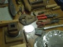 Tinsmithing tools of the trade
